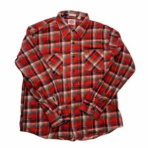 Vintage Dickies Flannel Shirt Size XL Red Plaid